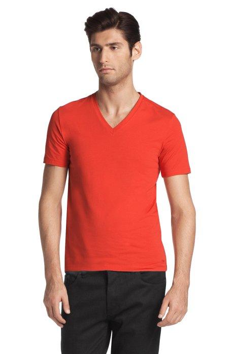 V-neck T-shirt 'Dredoso', Red