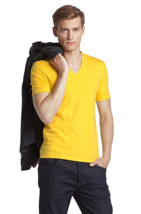 V-neck T-shirt 'Dredoso', Yellow