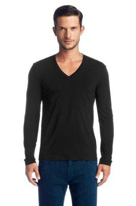Long sleeve T-shirt with elastane 'Dredino', Black