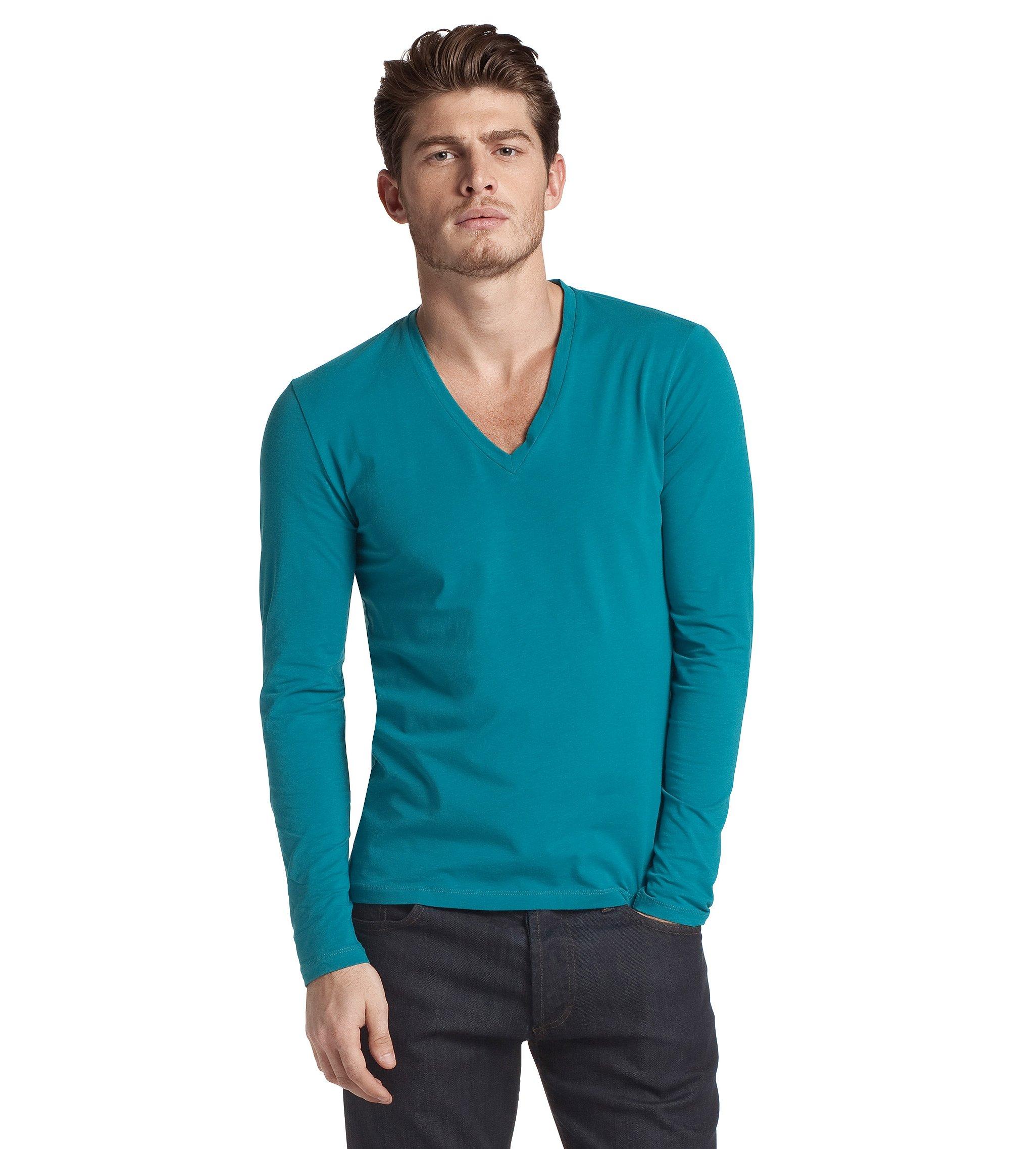 Long sleeve T-shirt with elastane 'Dredino', Open Green