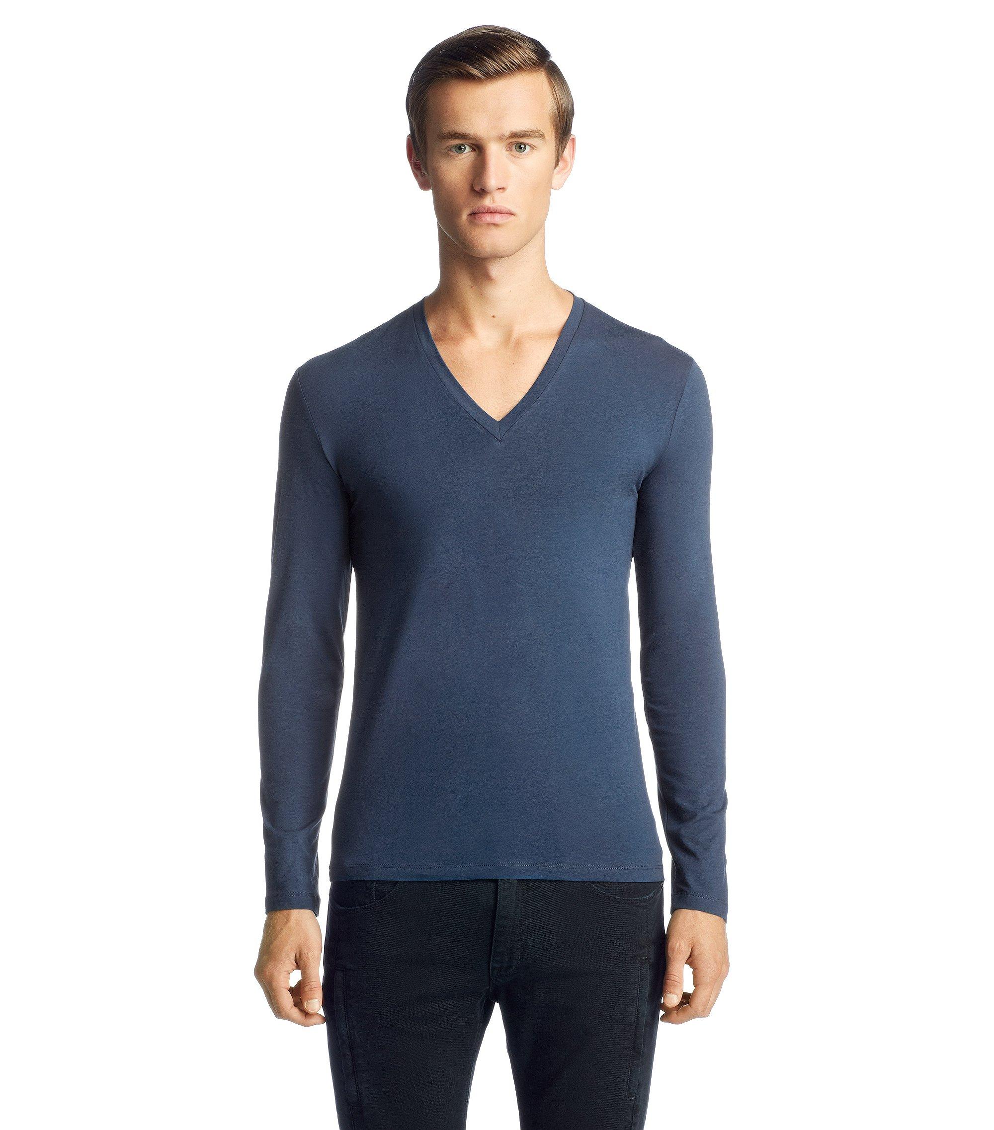 Long sleeve T-shirt with elastane 'Dredino', Blue