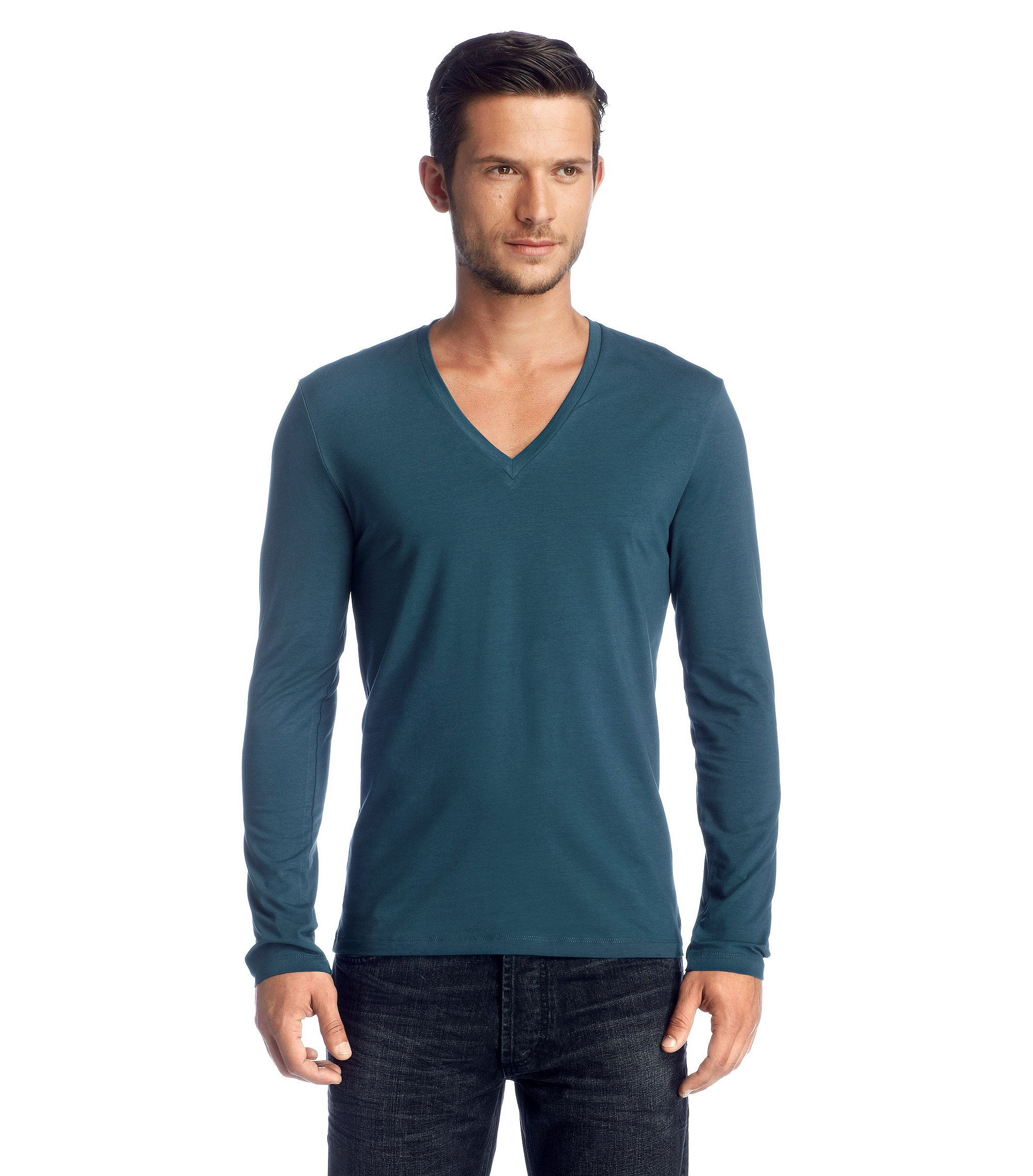 Long sleeve T-shirt with elastane 'Dredino', Open Blue