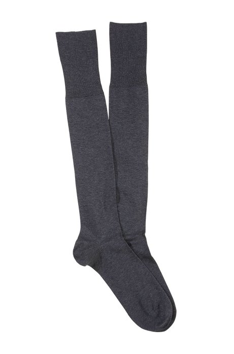 Knee socks with comfortable tops 'George KH Uni', Anthracite