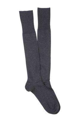 Chaussettes hautes confort, George KH Uni, Anthracite
