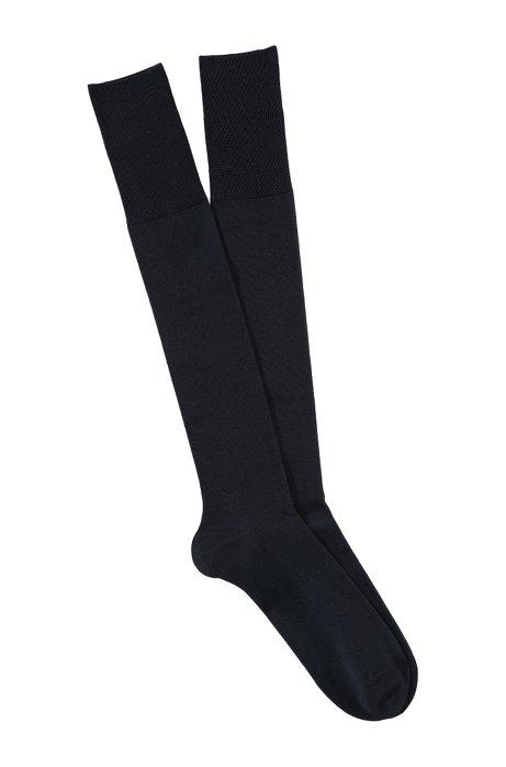 Knee socks with comfortable tops 'George KH Uni', Dark Blue