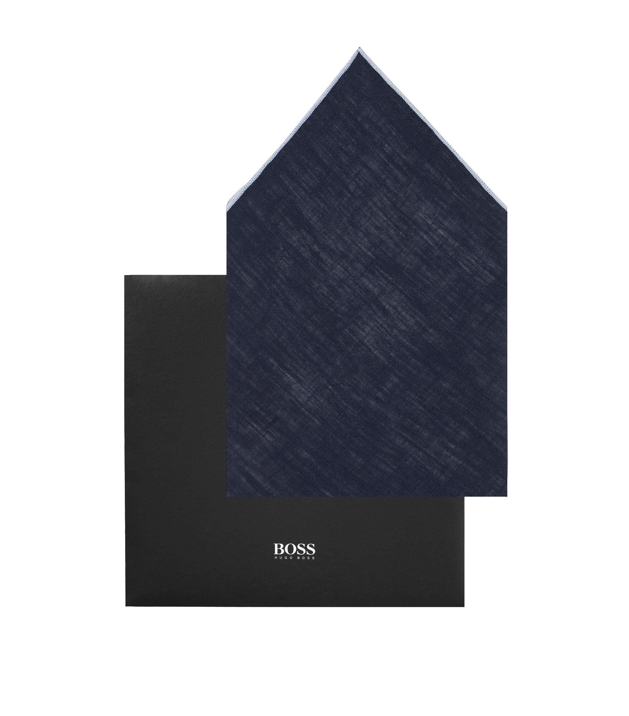 Einstecktuch ´Pocket square 33 x 33 aus Leinen, Dunkelblau