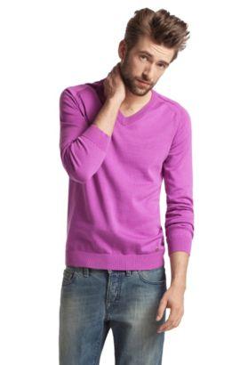 Pullover ´Kraimon` mit V-Ausschnitt, Lila
