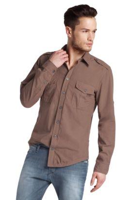 Freizeit-Hemd ´EzzerE` mit Kentkragen, Dunkelgrau