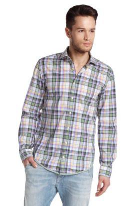 Freizeit-Hemd ´EtalyE` mit kleinem Kentkragen, Grün