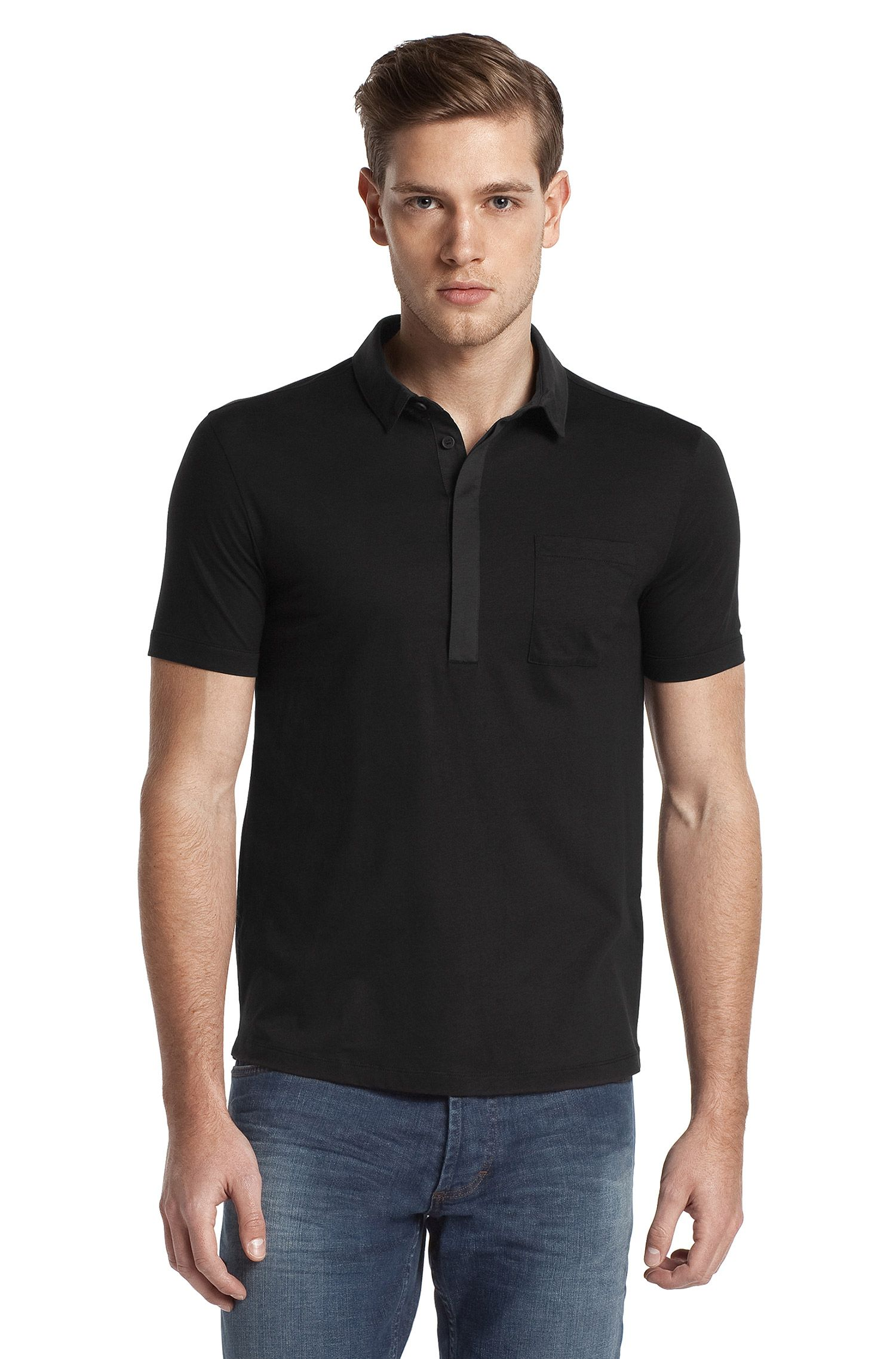 Polo-Shirt ´Duggins` aus reiner Baumwolle