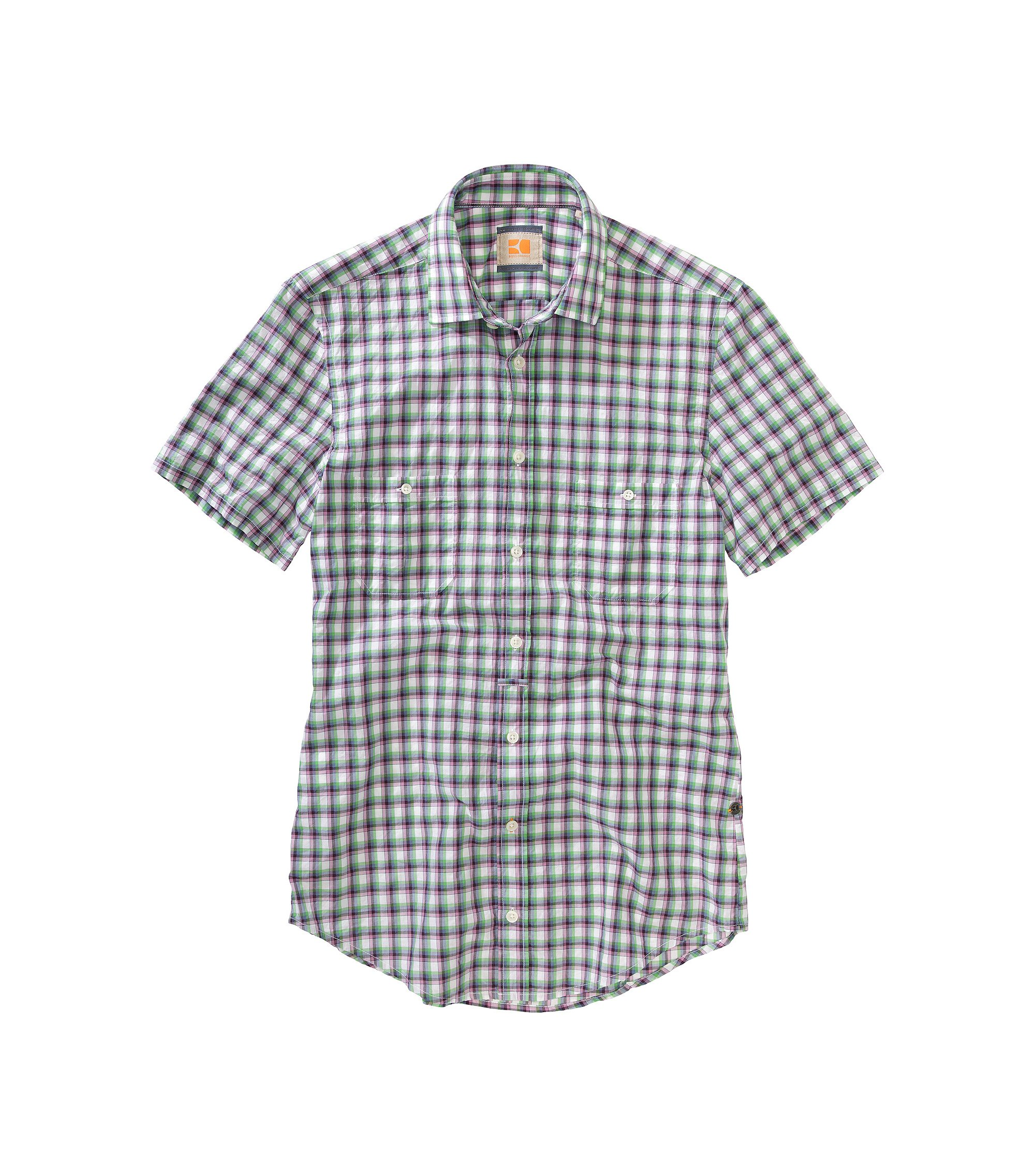 Casual shirt with reinforced Kent collar 'Egrify, Purple