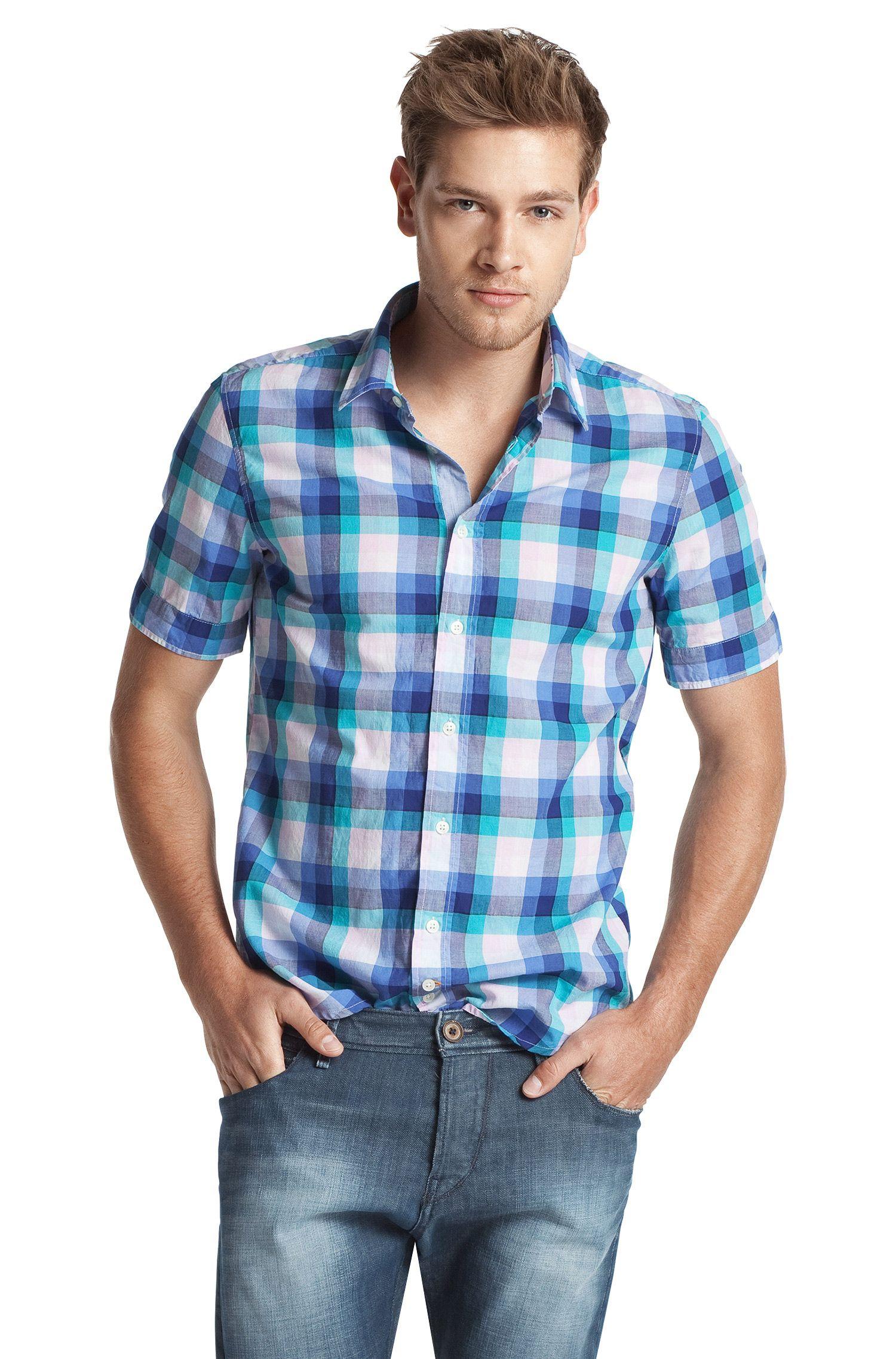 Kurzarm-Hemd ´CliffiE` mit Kentkragen