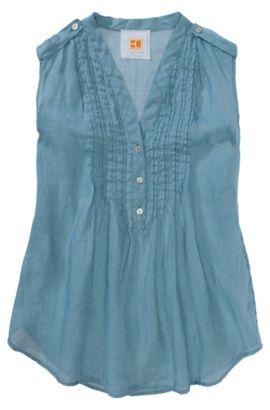 Tunique en pure ramie, Efedora, Bleu vif