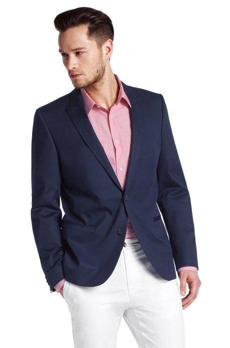 Jacket with peak lapel ´Ames`, Dark Blue