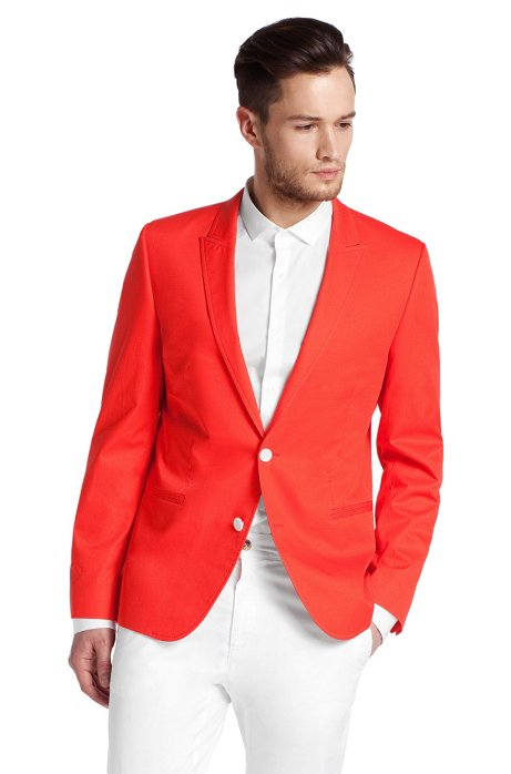 Jacket with peak lapel ´Ames`, Red