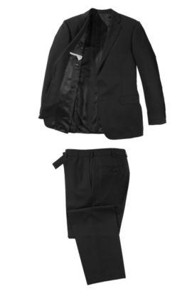 Anzug ´Pavese1/Verga1` aus reiner Schurwolle, Schwarz