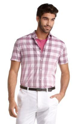 Chemise détente à manches courtes, Banfolino, Rouge clair