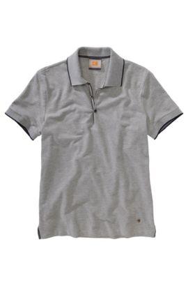 Polo en pur coton, Pejo 1, Gris chiné