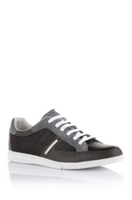 Ledersneaker ´Eldorado Safari` mit Schnürung, Schwarz