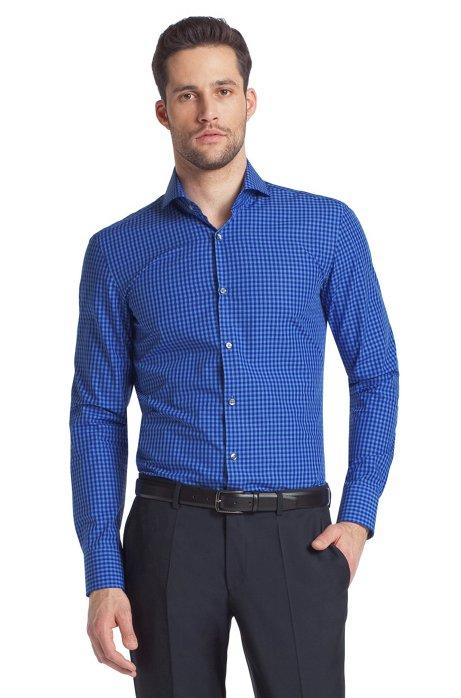 Business shirt with a shark collar 'Dwayne', Blue