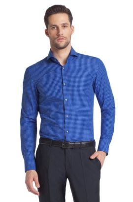 Business-Hemd ´Dwayne` mit Haifischkragen, Blau