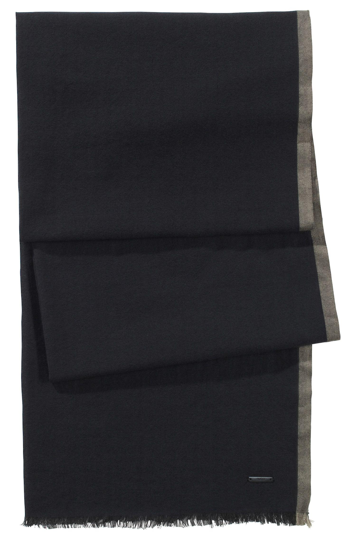 Schal ´Men-Z 306` aus Baumwolle, Schwarz