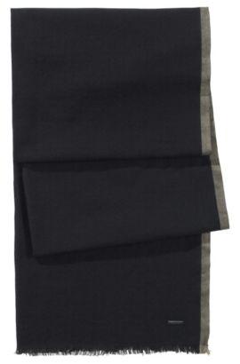 Écharpe en coton, Men-Z 306, Noir
