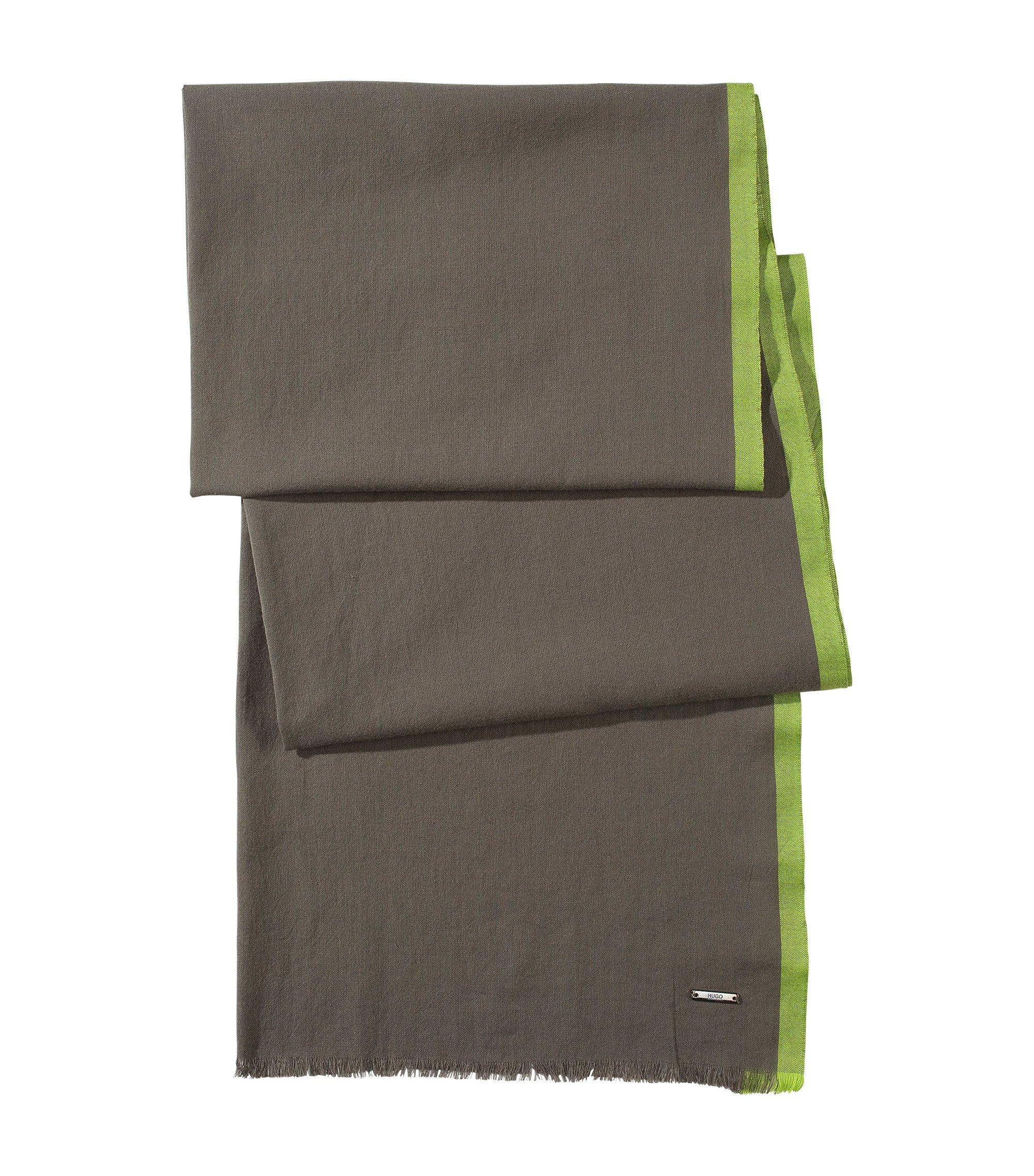 Schal ´Men-Z 306` aus Baumwolle, Khaki