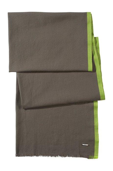 Cotton scarf 'Men-Z 306', Khaki