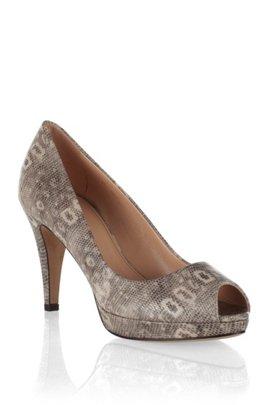 Peep-toe court shoe in finest calfskin ´Eldoral`, White