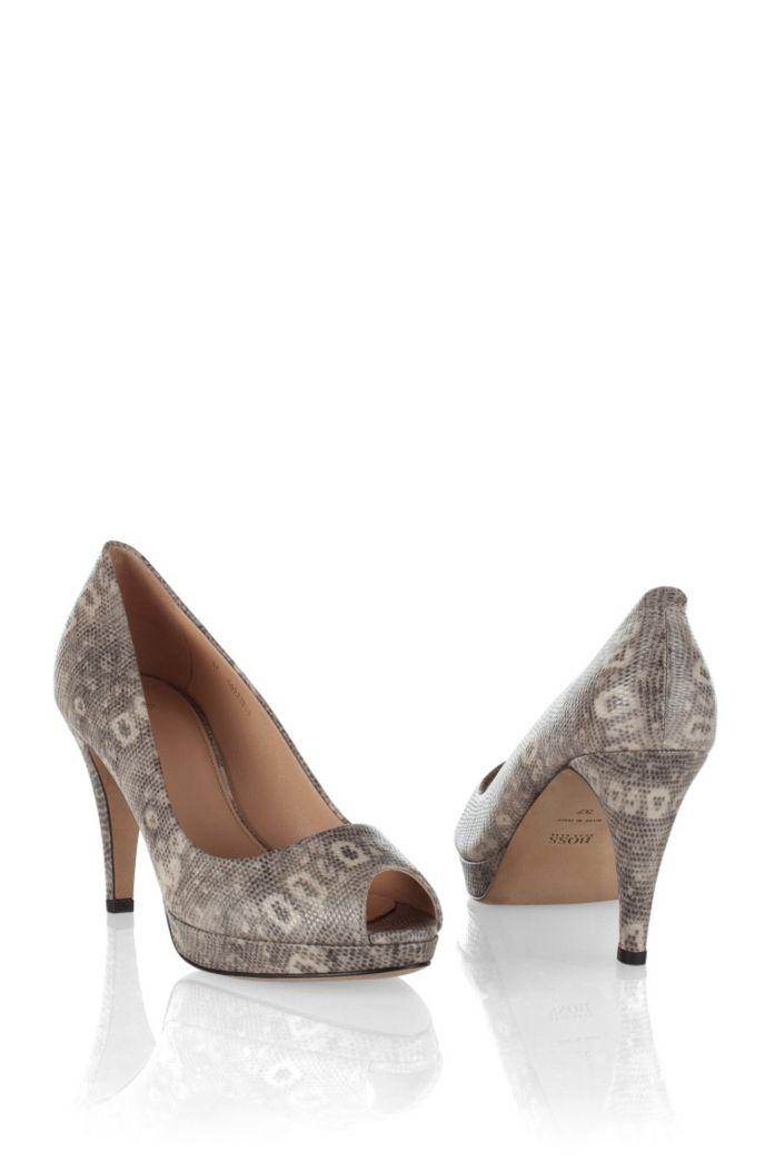 Peep-toe court shoe in finest calfskin ´Eldoral`