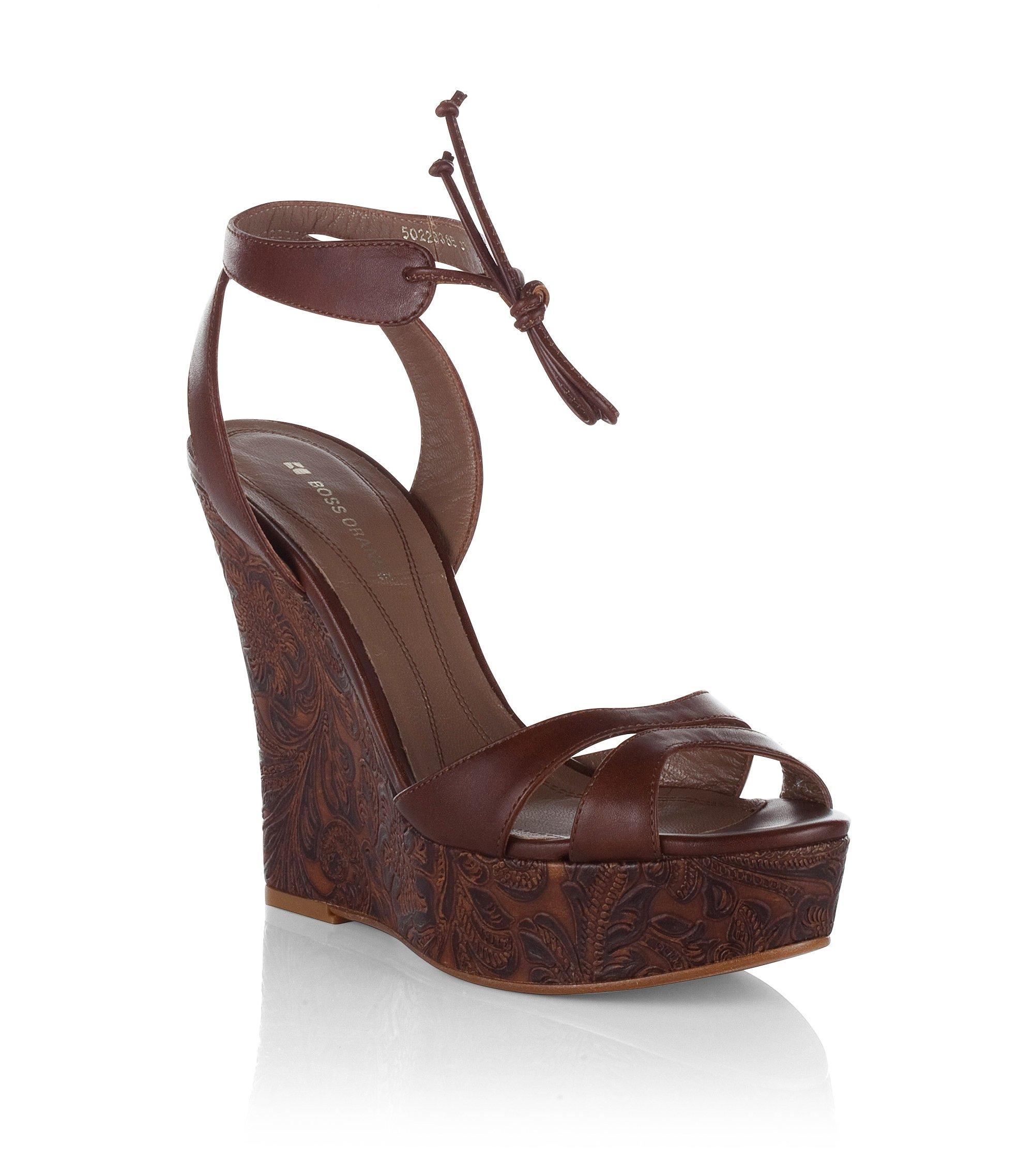 Sandale ´Jaret` mit Keilabsatz, Braun
