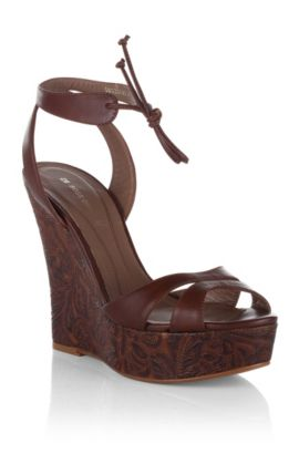 Wedge heel sandal 'Jaret', Brown