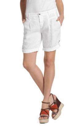 Short en lin, Saskiani-W, Blanc