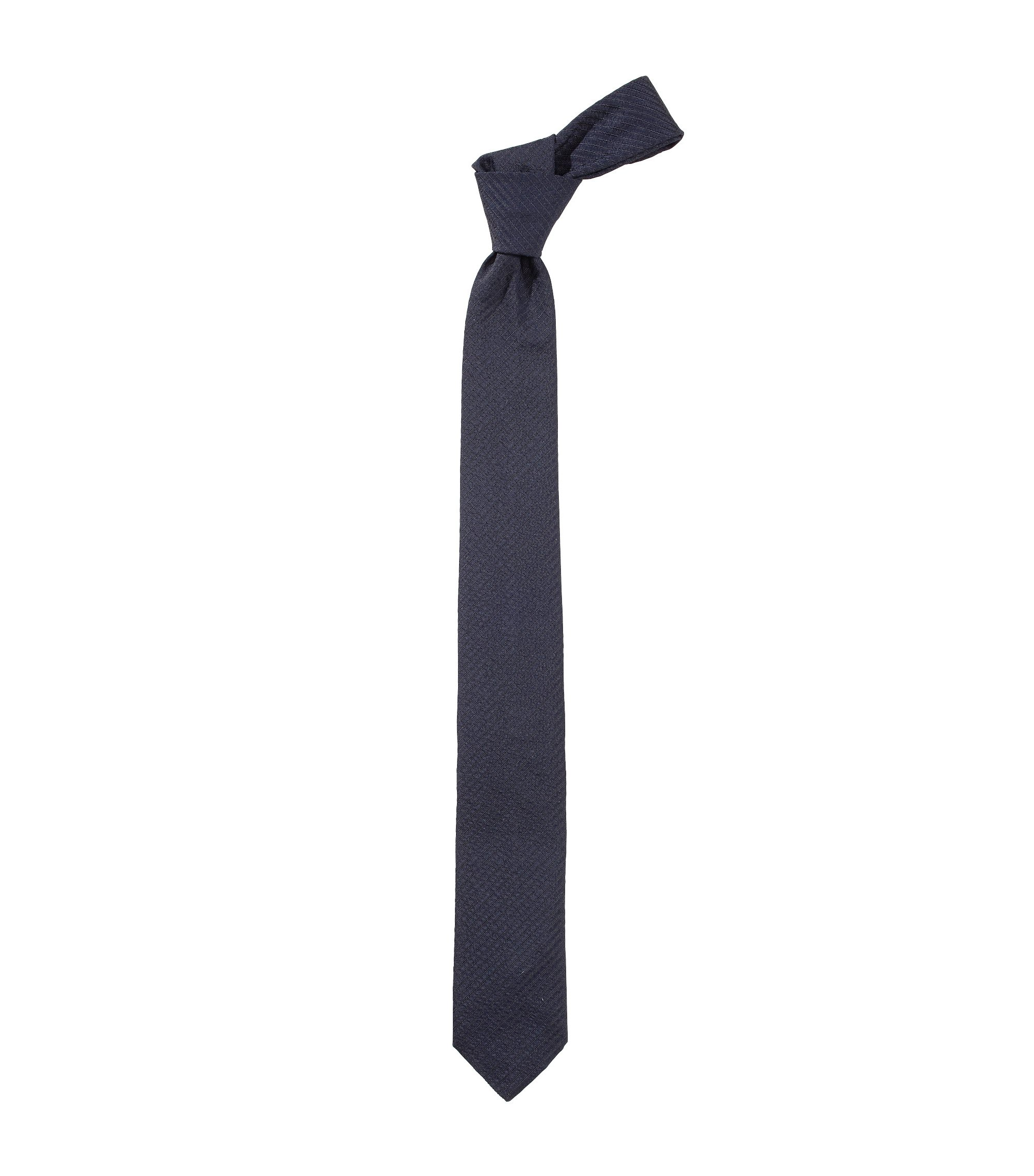 Krawatte ´Soft Tie cm 6` aus Seiden-Mix, Dunkelblau