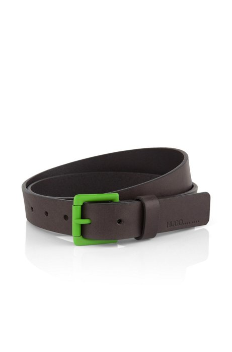 Leather belt 'Glundi', Grey