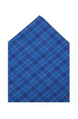 Pochette en coton, Pocket square 35 x 35, Bleu vif