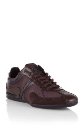 Sneakers ´Seamon` van een kunstvezelmix met leer, Donkerbruin