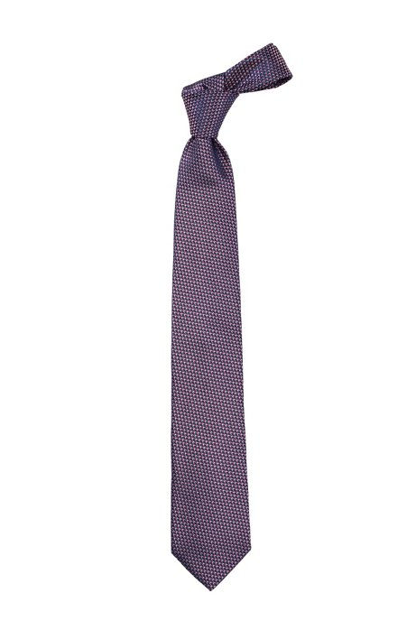 Spotty silk tie 'Tie 7.5 cm', Dark Red