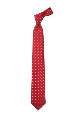 Krawatte ´Tie 7,5 cm` aus reiner Seide, Dunkelrot