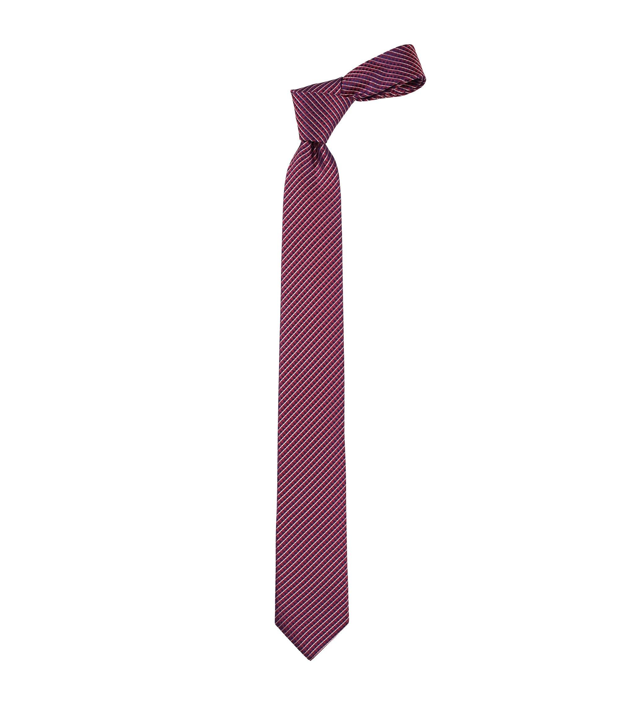 Cravate en pure soie, Tie 6 cm, Rouge sombre