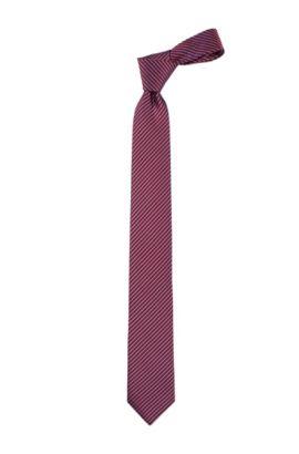 Krawatte ´Tie 6 cm` aus reiner Seide, Dunkelrot