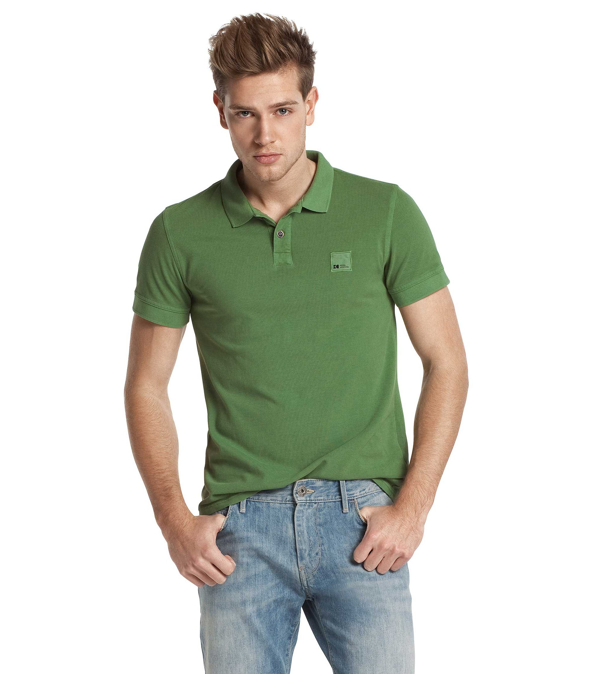 Kurzarmpolo ´Pascha` aus Baumwolle, Grün