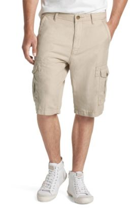 Short ´Strake-Shorts-D` van linnenmix, Lichtbeige