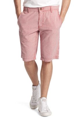 Short à rayures, Shire2-Shorts-W, Rouge clair