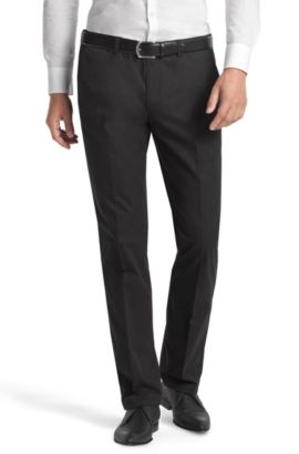 Pantalon détente en coton, Shadow4-W, Noir