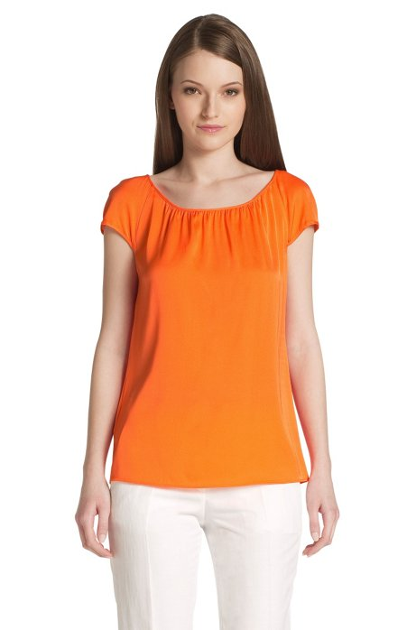 Blended silk top 'Catoni-1', Orange