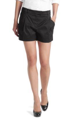 Shorts ' Hanomi' van een katoenmix, Zwart