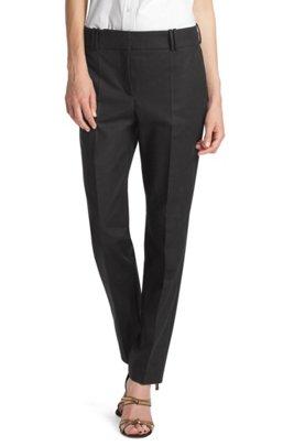Blended cotton trousers 'Nadelle', Black
