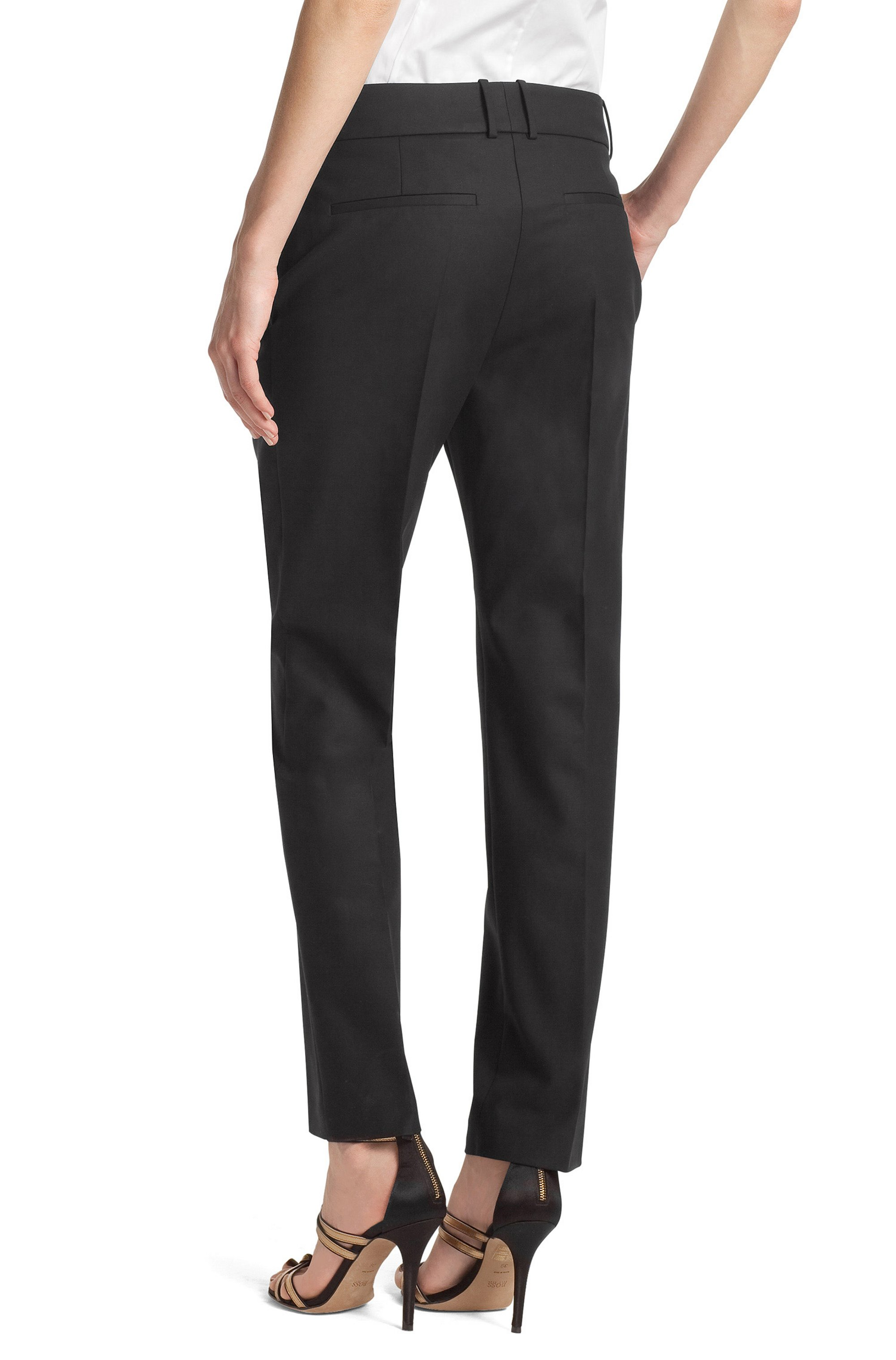 Blended cotton trousers 'Nadelle'